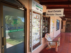 Costa Rica Real Estate Service Office at the Plaza Pacifica in Dominical Costa Rica