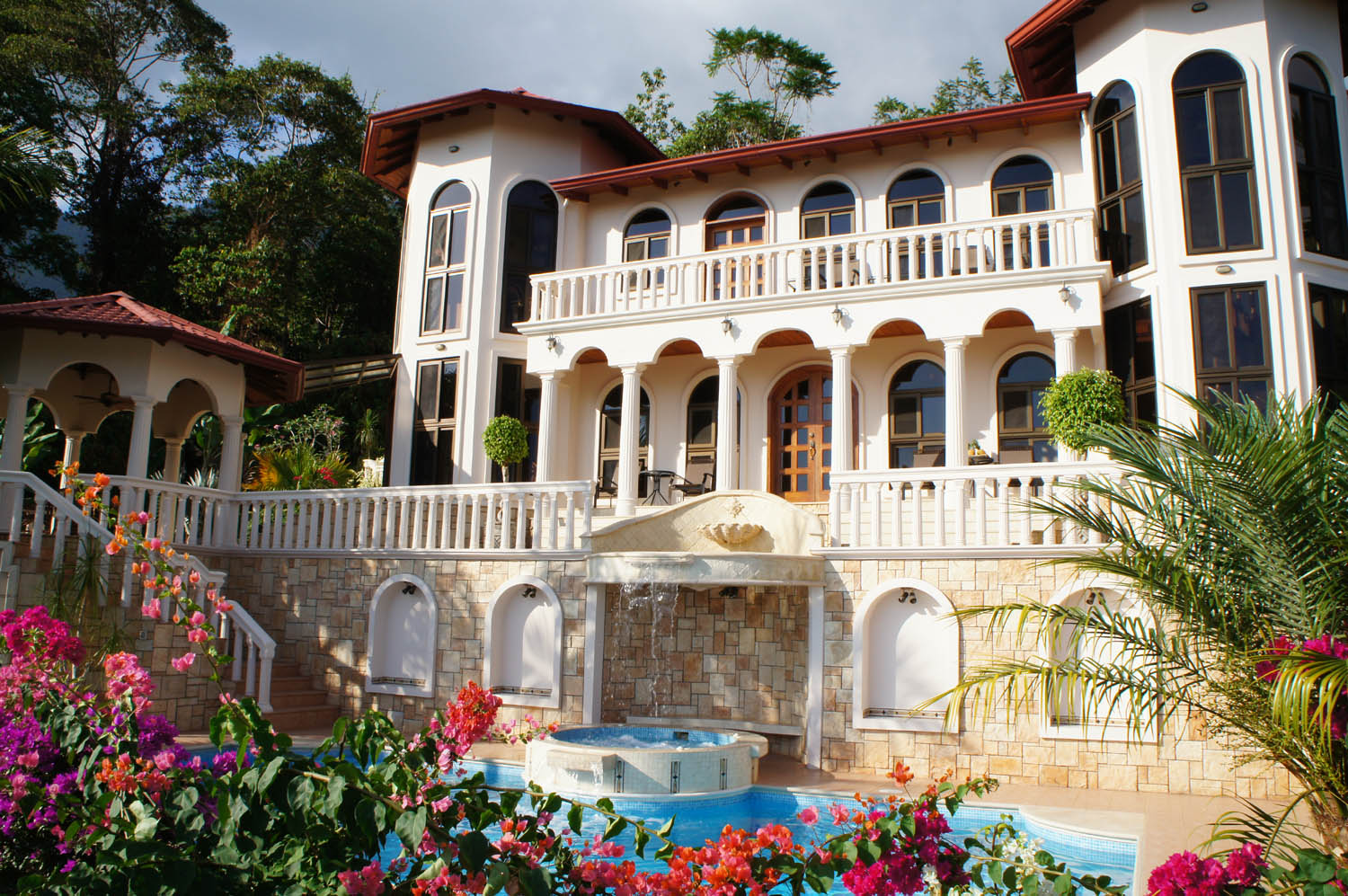 Opulent mansion on four jungle acres with a private waterfall for Mansions in costa rica