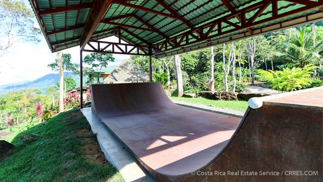 Covered Half-Pipe with Whitewater Views