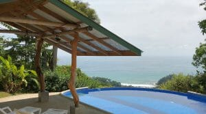Tropical Home with Whitewater Ocean Views near Uvita