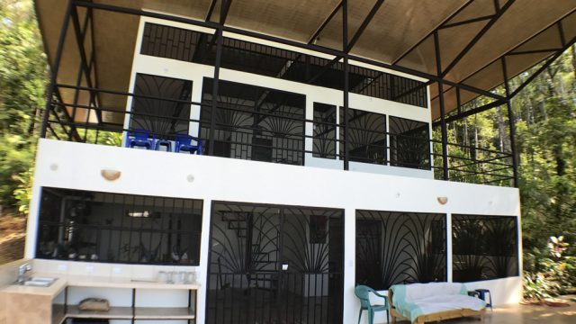 Covered Balcony and Patio