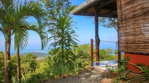 Two Spectacular Whale's Tail Ocean View Cabins and Building Site in Uvita