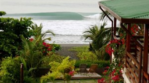 Busy Oceanfront Surf Lodge for Sale Right On the Beach in Jaco