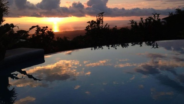 Ocean View Infinity Pool at Sunset