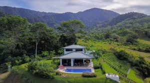 New Ocean View Home with Tropical Gardens Above Ojochal