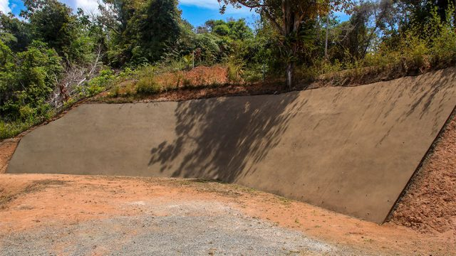 Brand New Retention Wall