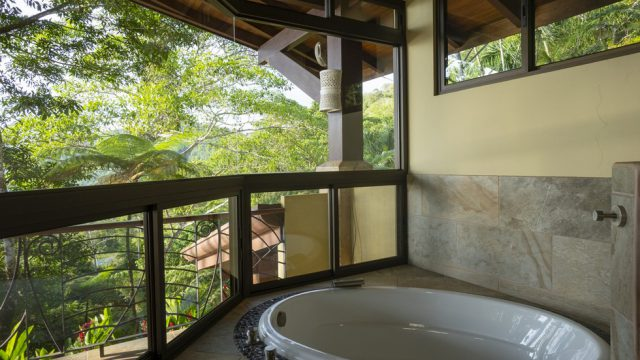 Jacuzzi with Forest Views