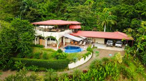 Private Ocean View Home Above Dominicalito with Extra Building Site